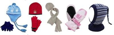 Accessories til børntøj - vanter, huer, elefanthue, tørklæde